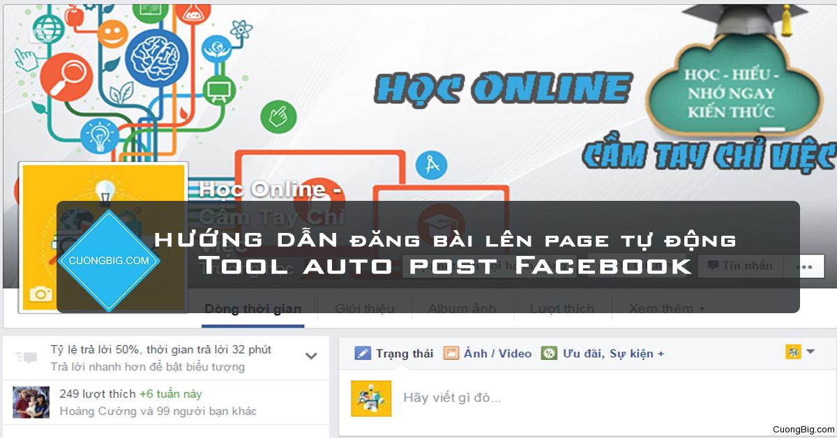 [Tool] – Công cụ đăng bài tự động  lên all page  Facebook