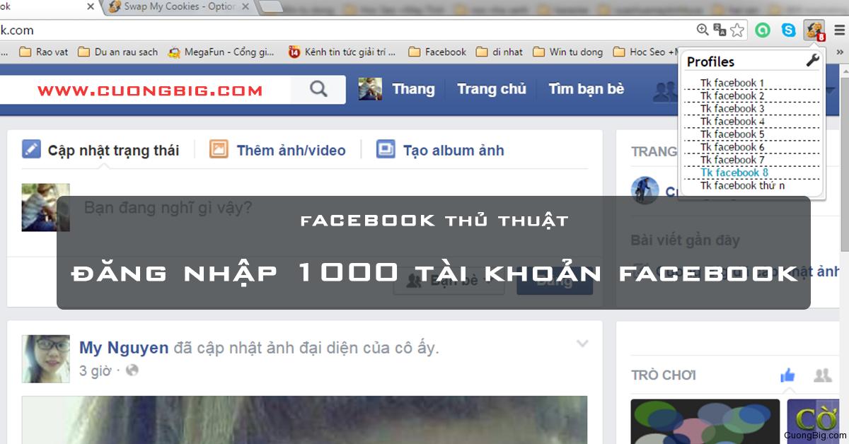 Cách đăng nhập 1000 nick Facebook vào một trình duyệt